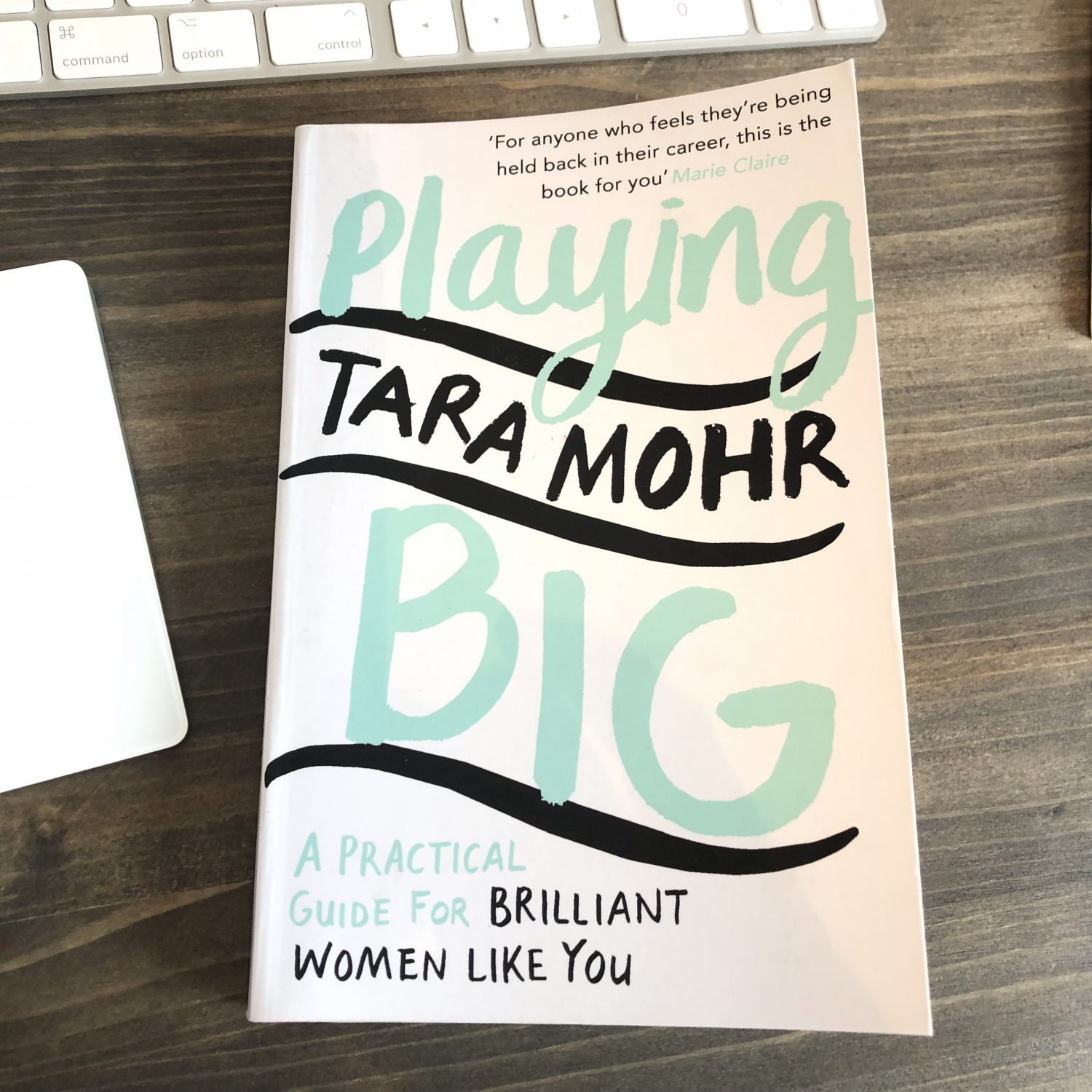 Picture of a book - Playing it Big, a practical guide for brilliant women like you.  By Tara Mohr.
