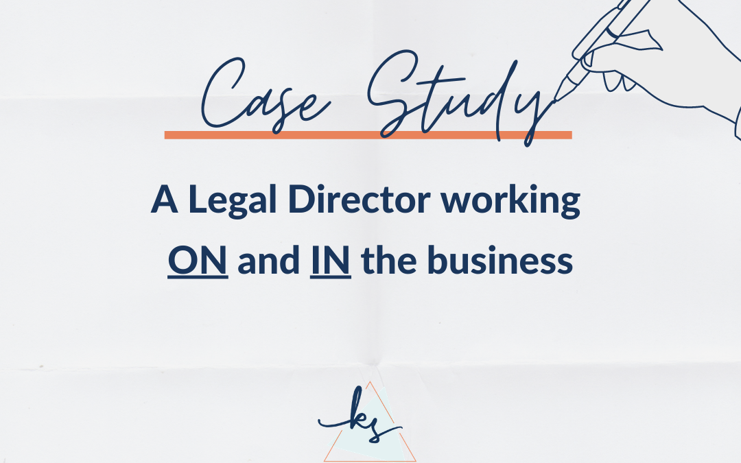 Case Study #1 | A Legal Director working on and in the business.  It's time to hire a Legal PA