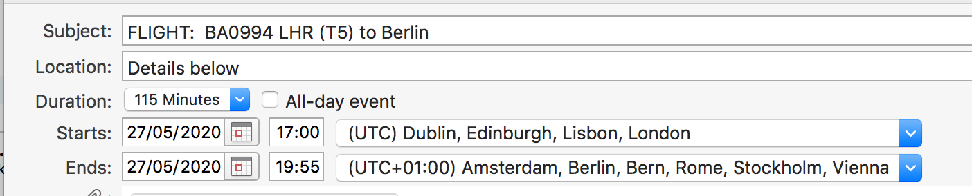 Manage your calendar by making sure you have set up the correct time zone.