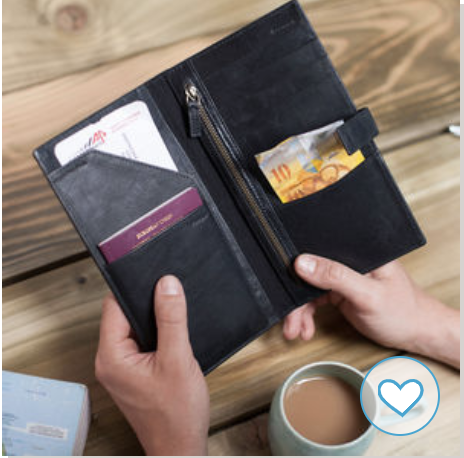 Travel wallet for business trips